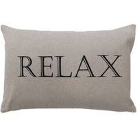 "The Vintage House by Park B. Smith® ""Relax"" Oblong Throw Pillow"