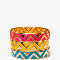 Lacquered Zig Zag Bangle Set | FOREVER 21 - 1040241630
