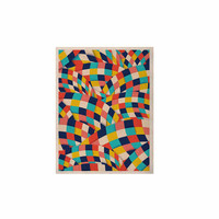 "Danny Ivan ""Curved Squares"" Multicolor  KESS Naturals Canvas (Frame not Included)"