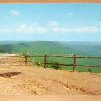 Vintage Round Top Mountain Arkansas Ozarks Postcard