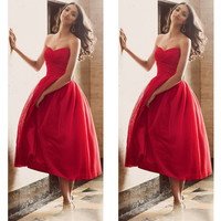Red Short Prom Dresses pst0354