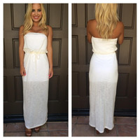 Monte Carlo Poolside Maxi Dress - IVORY