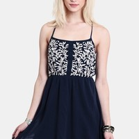 Sunroom Lounging Embroidered Dress