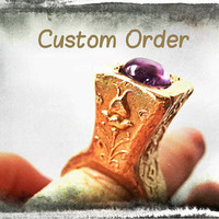 New Byzantine Papal Tall BRONZE Ring, Custom Request, Made to Order from size 4 to 8