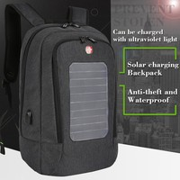 2017 New Swiss Solar Charging Backpack for Men and Women Travel Business Bags 15 Inch Laptop Fashion School Bag bagpack mochila