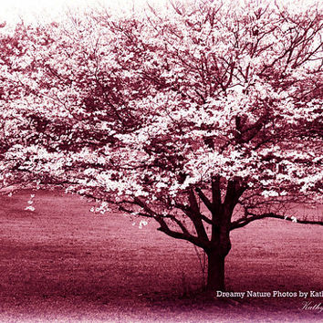 "Nature Photography, Spring Pink South Carolina Trees, Fantasy Tree Print, Surreal Dreamy Nature Trees, Fine Art Nature Photo 8"" x 10"""