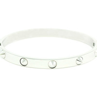Wanderlust + Co - Multi-Stud Silver Bangle