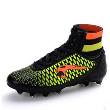 High Ankle Football Boots Kids Botines Botas Futbol Youth Superfly Soccer Sports Shoes Outdoor Training Sneakers Hot Sale