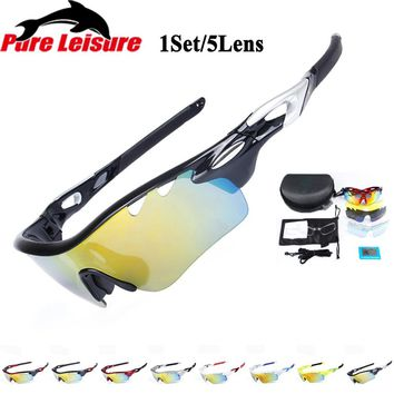 PureLeisure Sunglasses Men Polarized Fishing Clip Lunettes De Soleil Lunettes 1 Set 5 Lens Wear Over Sunglasses