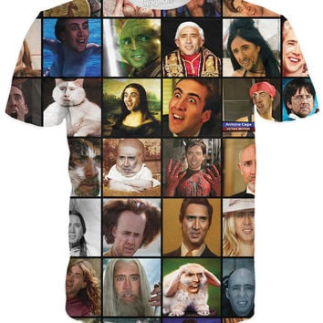 Nicolas Cage Rage Faces T-Shirt
