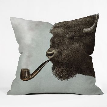 Eric Fan Big Smoke Throw Pillow
