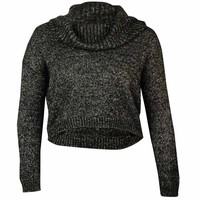 Bar III Women's Long Sleeve Cowl Neck Crop Sweater