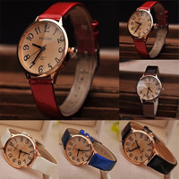 Women's Fashion Faux Leather Strap Big Digit Style Analog Quartz Dress Wrist Watch = 1932691460