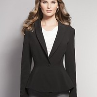 City Double Stretch Peplum Jacket - Jackets - New York  & Company