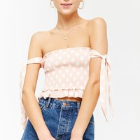 Polka Dot Off-the-Shoulder Top