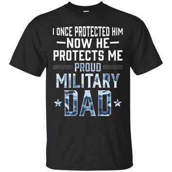 Proud Military Dad Son Soldier Air Force Navy T Shirt