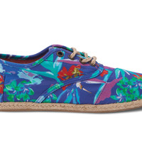 TOMS Cordones Blue Birds of Paradise Women Shoes