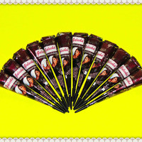 3 Instant Red Brown Henna Cone - Tattoo Paste Body Art Heena Mehndi for Skin Temporary Tattoos Ready to Use