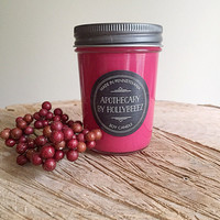 Autumn Apple Orchard soy candle glass jelly jar teen room kitchen birthday gift for her organic fall autumn chef cook gift christmas stocki