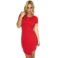 All the Right Angles Dress In Red