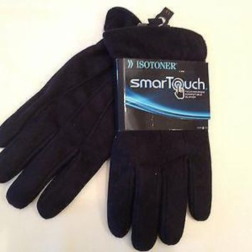 ISOTONER smarTouch Touchscreen Compatible Gloves Black XL