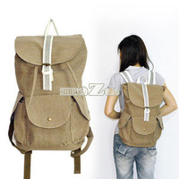 S0BZ Women Casual  Canvas Backpack Rucksack Shoulders Bag Bookbag Travel Bags