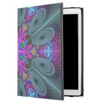Mandala from the Center Colorful Fractal Art iPad Pro Case