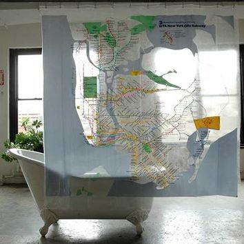 New York City MTA Subway Shower Curtain