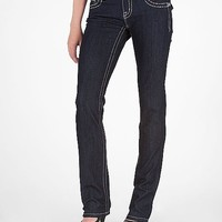 Miss Me Metallic Embroidered Straight Stretch Jean