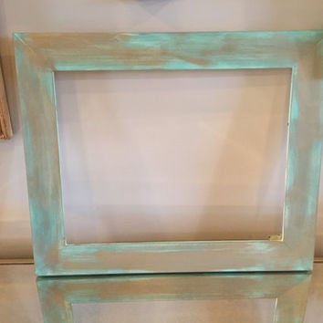 Picture Frame 11x14 Patina Wax Gold Wax Wood Frame Stained Frame