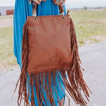 Bamboo Forest Patchwork Fringe Bag