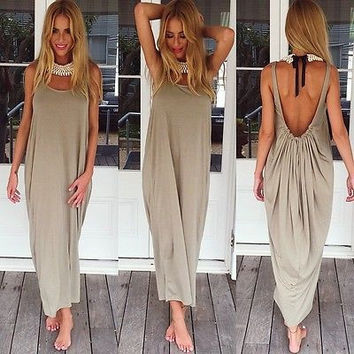 Sexy Women Hippie Boho Evening Party Beach Dress Long Maxi Dress