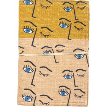 Winking Eye Journal with Fabric Tic Closure