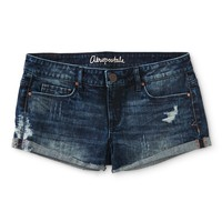 Aeropostale Womens Dark Wash Denim Shorty Shorts - Blue