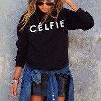 CELFIE sweatshirt women sweater jumper