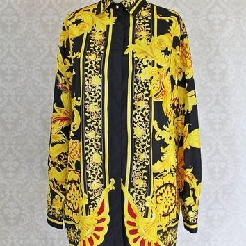 Vintage 1980s Pucci-Esque + Statement Tunic Blouse
