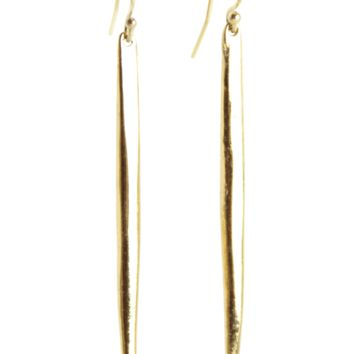 Long Spike Ear Earrings in Gold