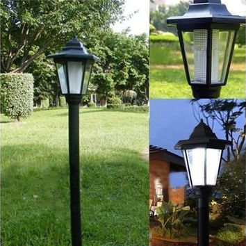 Outdoor Solar Power LED Path Way Wall Landscape Mount Garden Fence Lamp Light TR [9305892295]