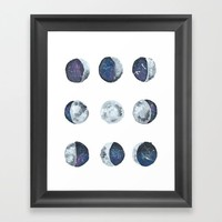 Moons Framed Art Print by Katie Cozzi