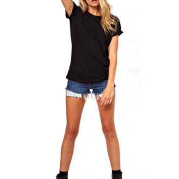 Black Mesh Short Sleeved Tee