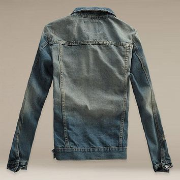 Denim Jacket Men Slim fit Vintage Mens Jacket and Coat Top Quality Fashion Casual Jeans Jackets 2016 New Outdoors Jeans Clothing