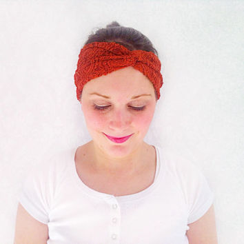 Rust Turban Headband, Stretchy Twist Headband, Fashion Hair Accessories, Head Wrap, Turban, Ear Warmer, Sweatband, Turband, Teen Gift Idea