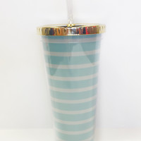 Straw Tumbler-Seaside Stripe