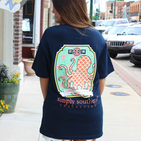 Preppy Octopus Tee - Simply Southern Collection