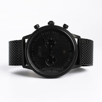 Kingston Matte Black Mesh Watch