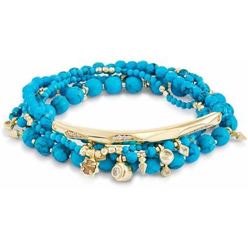 Kendra Scott: Supak Beaded Bracelet Set In Turquoise