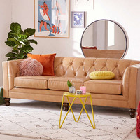 Graham Recycled Leather Sofa | Urban Outfitters