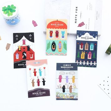 5pcs/pack Cartoon Animal Bookmark Metal Bookmarkers Promotional Gift Stationery Clips Free Bookmarks For Books Book Marks