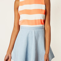 Sleeveless Stripe Shell Top - Tops - Clothing - Topshop USA