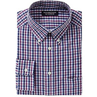 Roundtree & Yorke Big & Tall Long-Sleeve Button-Down Sportshirt - Whit